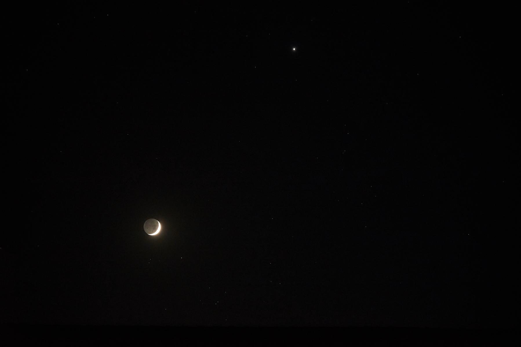 Månen og Venus